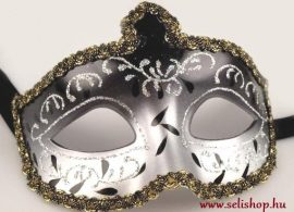 Jelmezbál Álarc JASMINE fekete-ezüst szilveszter