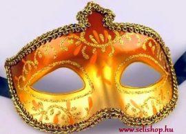 Jelmezbál Álarc JASMINE arany szilveszter