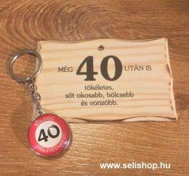 Ajándék szett 40. SZÜLETÉSNAP (1) vicces évszámos ajándék