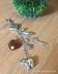 Kulcstartó PANDORA (2)  kézitáska függő dísz szív