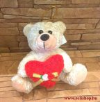 Plüss MACI piros szívecskével, 16 cm
