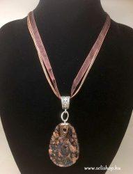 Nyaklánc ACHIMA (30) muranói jellegű üveg medál barna