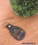 Kulcstartó BUDAPEST bőr kék