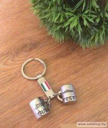 Kulcstartó BUDAPEST mini korsóval