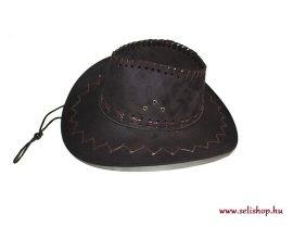 Jelmezbál COWBOY kalap velúr, szilveszter