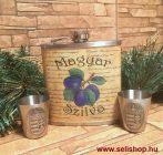 Flaska szett MAGYAR SZILVA - CÍMERES (1) férfi ajándék