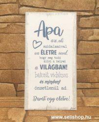Hűtőmágnes - fa tábla APA (1) vicces férfi ajándék