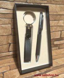 Ajándék szett BRADLEY (2) fekete, műbőr, 2 részes férfi ajándék