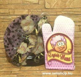 Ajándékcsomag LEGJOBB MAMA - NAGYI (1) vicces, virágmintás ajándék