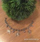 Karkötő LORAINE (2) virág, ezüst színű