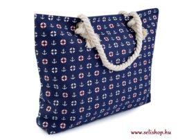 Táska textil TENGERÉSZ matróz kék horgony