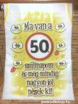 Kötény 50-es SZÜLETÉSNAP (2) vicces ajándék