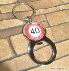 Kulcstartó - sörnyitó SZÜLETÉSNAP 40-es évszámos ajándék