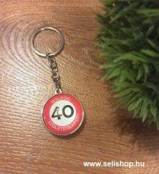 Kulcstartó 40. SZÜLETÉSNAP (1) évszámos ajándék