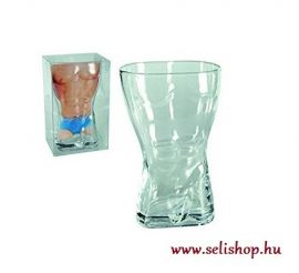 Pohár Szexi FÉRFI test 4 dl üvegpohár