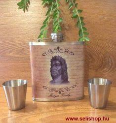 Flaska szett MÁTYÁS KIRÁLY (1) kispohárral, magyaros férfi ajándék