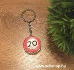 Kulcstartó 20. SZÜLETÉSNAP (1) évszámos ajándék