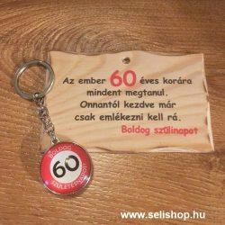 Ajándék szett 60. SZÜLETÉSNAP (1) vicces évszámos ajándék
