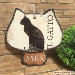 Alátét CAT- MACSKA (1) macskás ajándék, 20 cm