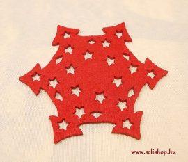 Karácsonyi poháralátét CSILLAG filc 10 cm piros