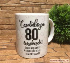 Bögre SZÜLETÉSNAP 80-as évszámos (1) szülinapi ajándék