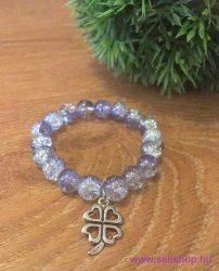 Karkötő CHARM SZERENCSE (1) női ajándék, lila