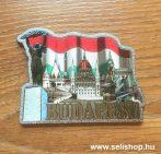 Hűtőmágnes BUDAPEST (3) fémlap, magyaros ajándék