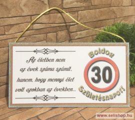 Fa tábla BOLDOG SZÜLETÉSNAPOT 30-as (1) idézetes