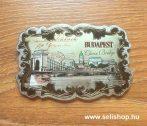 Hűtőmágnes BUDAPEST (2) fémlap, magyaros ajándék