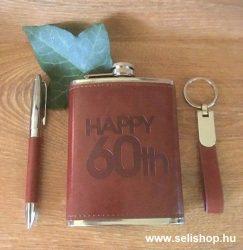 Flaska szett 60-as évszámos SZÜLETÉSNAP + toll és kulcstartó
