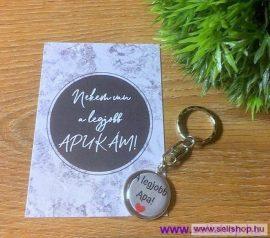 Kulcstartó LEGJOBB APA (1) kísérő kártyával
