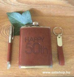 Flaska szett 50-es évszámos SZÜLETÉSNAP + toll és kulcstartó