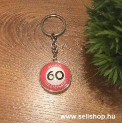 Kulcstartó 60. SZÜLETÉS NAP (1) évszámos ajándék