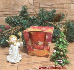 Ajándékcsomag ANGEL - CHRISTMAS (2) karácsonyi angyalka, 3 részes szett dísztasakkal, piros