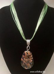 Nyaklánc ACHIMA (30) muranói jellegű üveg medál zöld
