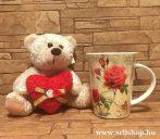 Ajándékcsomag SZERETET (1) virág, szív, női ajándék