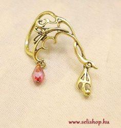 Fülgyűrű ATHINA piros antikolt