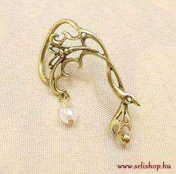 Fülgyűrű ATHINAfehér antikolt