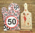 Ajándékcsomag KONYHA KIRÁLYNŐJE - 50. SZÜLETÉSNAP (1) vicces női ajándék, 2 részes