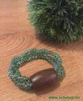 Karkötő JENNY (1) zöld üveggyöngy