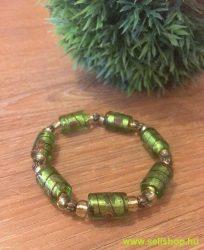 Karkötő ANNABELLA zöld üveggyöngy