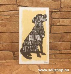 Hűtőmágnes - fa tábla KUTYA (1) vicces ajándék