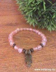 Karkötő CHARM BAGOLY (3) rózsaszín