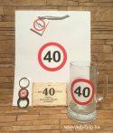 Ajándékcsomag 40-es SZÜLETÉSNAP (1) vicces, 3 részes, sörös ajándék, dísztasakkal