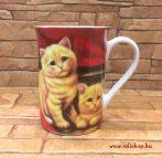 Bögre MACY macska (1) cicás ajándék (10 cm)