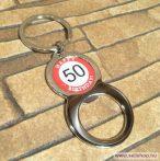 Kulcstartó - sörnyitó SZÜLETÉSNAP 50-es évszámos ajándék